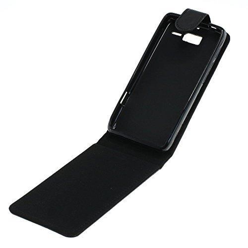 Mobilfunk Krause - Flip Hülle Etui Handytasche Tasche Hülle für Motorola RAZR i XT890 (Schwarz)