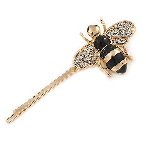 Preisvergleich Produktbild Unbekannt Avalaya Haarklammer,  Bienenenmotiv,  vergoldet,  55 mm
