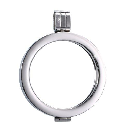 Sissi-Jewelry Münzfassungen Edelstahlanhänger - Coinsfassung Anhänger Silberton WK-003