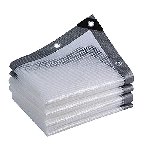 GXYAWPJ- Lámina de Lona para Trabajo Pesado Transparente con Ojales Jardinería Cubierta para Exteriores Toldo Vela de PE Multiusos Espesar Plástico Resistente ai Desgaste Ángulo(Size:2×10m)