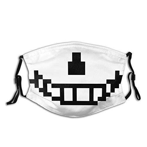 YRLMW Sans (Undertale) Pixel Smile Cover Dusk Adjustable Ear Loops Comfortable Face Mask Balaclava Black