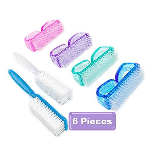 Nail Brush Fingernail Brush 6 Pack Cleaner Hand Scrub Cleaning Brush for Toes Shower,Nail Scrub Brush For Women & Men & Kids