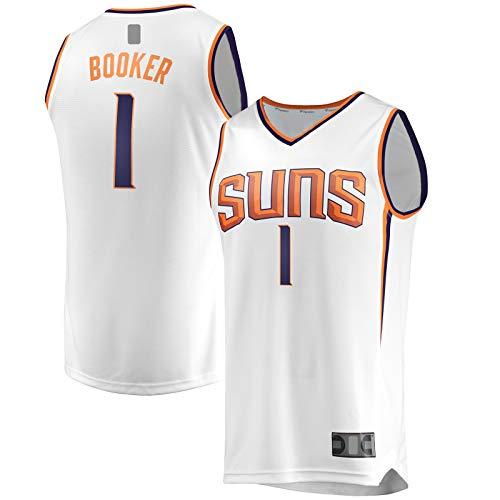 HFHDF Camiseta de baloncesto Devin Booker Traning para hombre, diseño de Phoenix, color blanco
