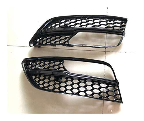Car Styling ABS Nebelscheinwerfer Grill-Maske Kult Abdeckungen Sitz Fit for Audi A3 2014 2015 RS3 2016 Autoteile Gitter Blende Stoßstange (Color : Black)