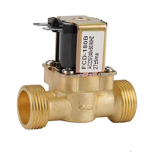 Akozon Magnetventil G3/4 2 Way Wassereinlass N/C Normal Geschlossenes Elektrisches Magnetventil AC 220/240 V FCD-180B Einlassventil Magnetventil,Normalerweise Geschlossen Einlass Magnetventil
