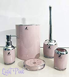 Liana 5-Piece Pink ABS Bathroom accessories set