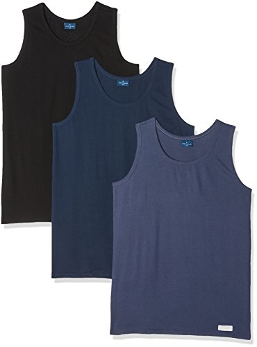 Navigare 511/XL Canottiera, Multicolore (Nero/Navi/ Jeans), XXXXX-Large (Taglia: 10), Pacco da 3, Uomo