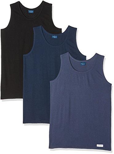 Preisvergleich Produktbild Navigare Herren Tank Top Sportunterwäsche 511,  3er Pack,  Mehrfarbig (Nero / Navi / Jeans),  Small