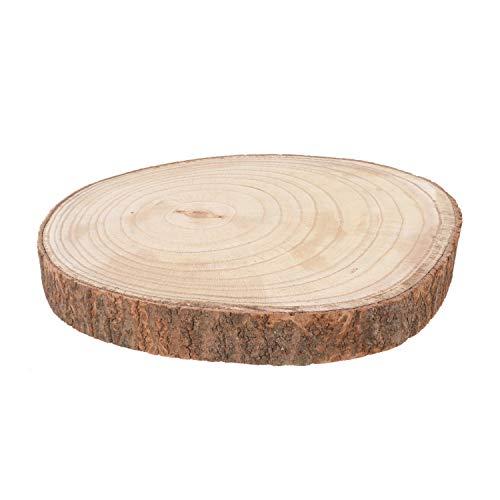 Sottopiatto tronco in legno, da 34x4x31 cm