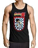 CottonCloud Tsubasa Camiseta para Hombre T-Shirt Holly e Benji súper campeones, Talla:2XL, Color:Negro