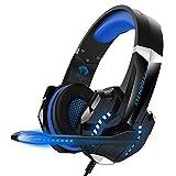 YDSZ Auriculares de Jugadores, Auriculares y micrófono de Juego Profesional, adecuados para PC PS5 Blue