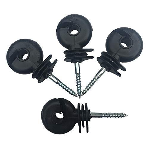 Ringisolator, Weidezaun Ringisolatoren Drahtzaun Isolator für Seil, Draht und Litze (50 Stück) Blechschraube