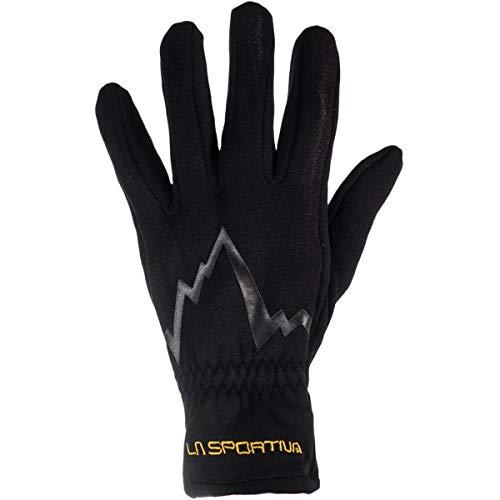 La Sportiva Stretch Guantes, Unisex Adulto, Black/Yellow, XS