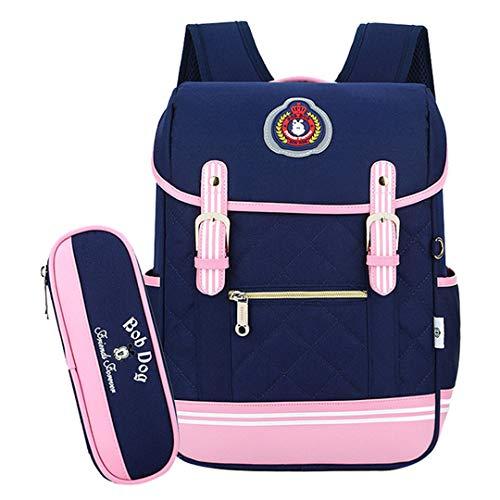 Mochila escolar, mochila para niña, mochila escolar, mochila ortopédica, mochila para niños, mochila para niñas, Deep Blue (Azul) - RS190812