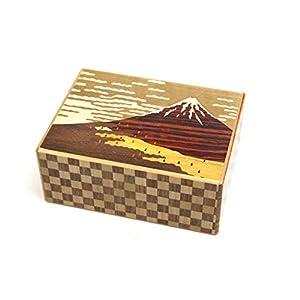 Japanese Puzzle Box 21+1steps 5.5sun Akafuji and Hydrangea