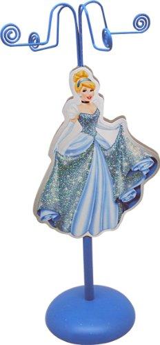 Joy Toy 90005 - Disney Cinderella Metall-Schmuckhalter mit Figur aus Holz, Geschenkpackung, 11 x 11 x 28 cm