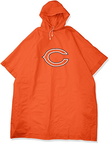 THE NORTHWEST COMPANY Officially Licensed NFL Chicago Bears Unisex Deluxe Poncho, Orange, 44