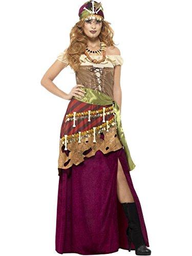 Smiffys Damen Kostüm Voodoo Priesterin Zigeunerin Karneval Halloween Gr.M