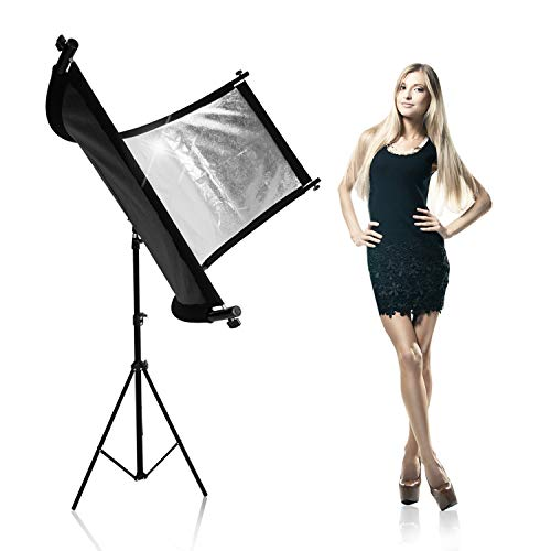 LimoStudio Bent Light Reflector/Diffuser Set with Silver Gold and White Reflectors and Tripod Stand for Photography and Video Studio Ideal for Portraits and Beauty Shots AGG2809