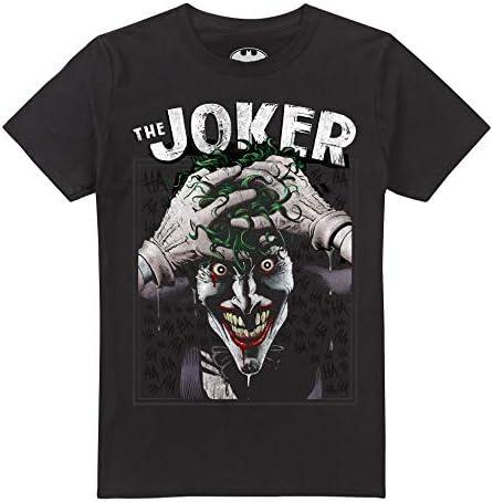 DC Comics Crazed Joker Camiseta para Hombre