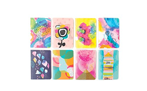"""OOLY 118-163 Pocket Pal Journal Pack of 8, (3.5"""" x 5"""") - Abstract"""