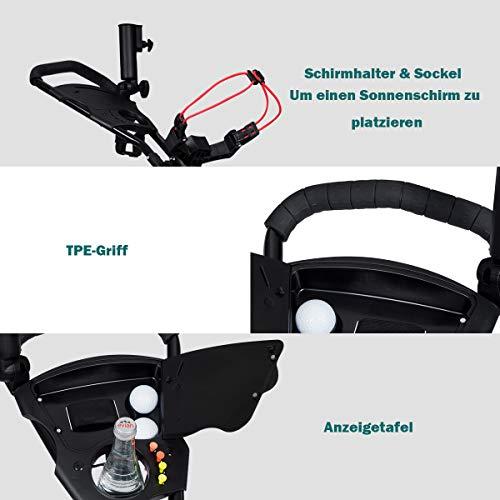 COSTWAY 3-Rad Golftrolley schwarz - 8