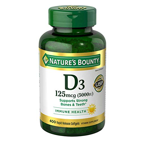 Nature's Bounty Immune Health Vitamin D3 5000 iu, Rapid Release 400 Softgels
