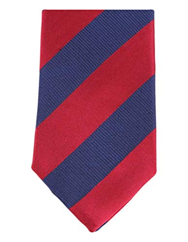 Knightsbridge Neckwear Marine/Rouge 2-Toned Diagonal Striped Silk Skinny cravate de
