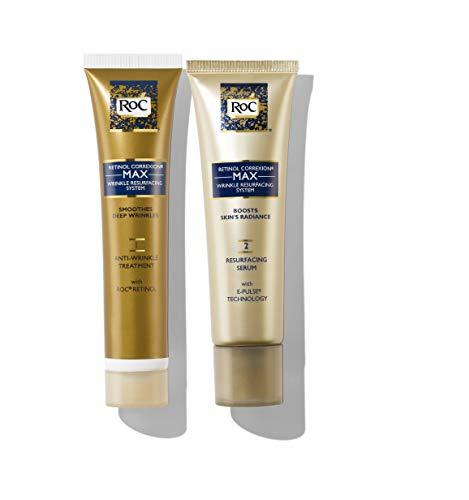 RoC Retinol Correxion Max Wrinkle Resurfacing Anti-Aging Skin Care System, White, Set of 2