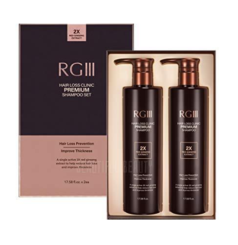 RG3 RGIII PREMIUM HAIR LOSS CLINIC SHAMPOO (TWO BOTTLE SET)