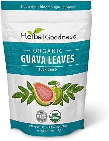 Guava Leaf Bulk Herbs Carb Blocker Blood Sugar Support Hair Re Growth Skin Nails Sleep Aid Organic product image
