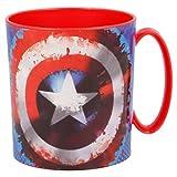 ALMACENESADAN 2242; Tazza a microonde Avengers; capacità 350 ml; Prodotto di plastica; No BPA.