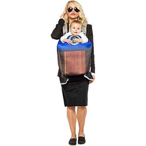Seeing Red Inc Secret Service and POTUS Halloween Costume for Parent and Baby, One Size, Carrier Cover and Accessories