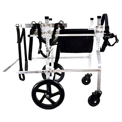 Hunderrolstoel, hond rolstoel hond Mobility Harness, rugsteun rolstoel, verstelbare roestvrijstalen wagen pet/hond kat rolstoel achterpoot revalidatie dog wheelchair Small