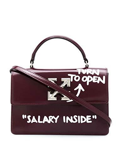 Luxury Fashion | Off-white Woman OWNA092E20LEA0012801 Burgundy Leather Handbag | Fall Winter 20