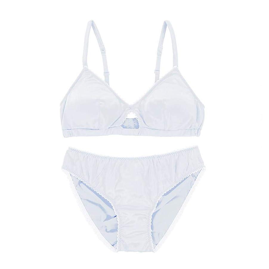 対応する品する必要があるLilyAngel リムなしのブラセット中空下着ブラ (色 : ホワイト, サイズ : L)