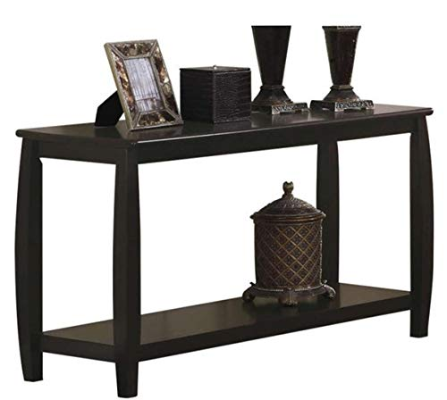 Coaster Wood Top Espresso Sofa Table with 1 Bottom Shelf