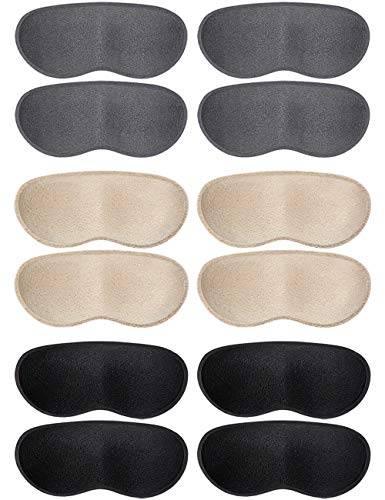 Dr.Foot Heel Grips for Women and Men, Self-Adhesive Heel Cushion Inserts Prevent Heel Slipping, Improve Shoes Too Big, Rubbing, Blisters, Foot Pain (Beige+Grey+Black)
