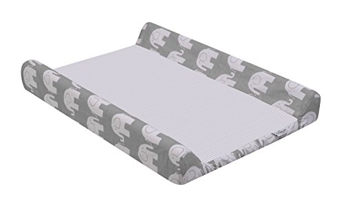 Sango Trade Wickelauflagebezug Mat 50x70 cm für Wickeltischauflage des Babys Verstellbar   BAUMWOLE  Bezug  Abnehmbar  Waschbar Wickelunterlage Graue Elefanten