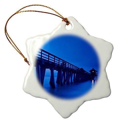 Pansy Schneeflocken-Ornamente für Stiefmütterchen, Weihnachtsbaum, Usa Florida Golfküste Neapel Pier Dawn Urlaub Weihnachtsbaum Hängeornamente Dekoration Geschenke