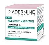 Diadermine - Crema Hidratante y Matificante de Día para pieles normales y mixtas - Cutis uniforme y sin brillos - 50 ml