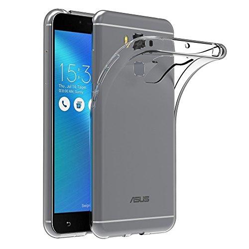 REY Funda Carcasa Gel Transparente para ASUS ZENFONE 3 MAX 5.5', Ultra Fina 0,33mm, Silicona TPU de Alta Resistencia y Flexibilidad