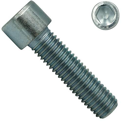 Zylinderschrauben mit ISK - M6x25 mm - 100 Stück - DIN 912 / ISO 4762 - Stahl galv. verzinkt 8.8 - SC912