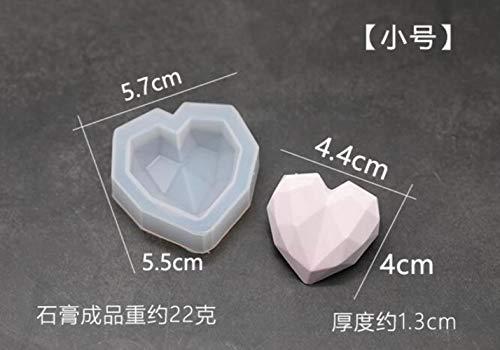 3d diamant savon moules amour coeur silicone moule moule bricolage voiture pendentif gypse plâtre coeur moule savon moule, 5.7x5.5x1.3