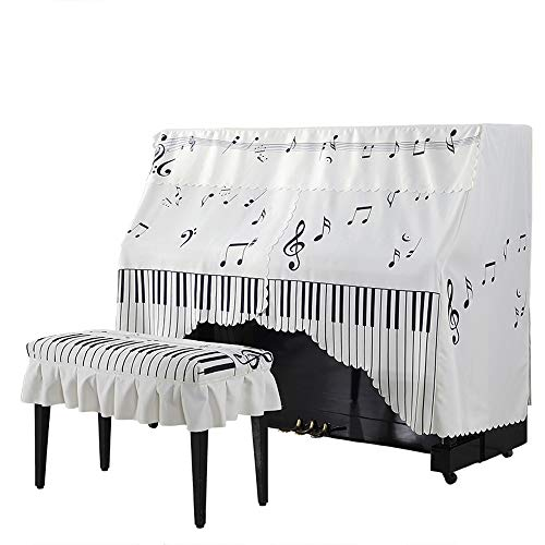 Sale!! BWAM-hom Piano Keyboard Dust Cover Nordic Cartoon Printed Piano Full Cover Dustproof Decorati...