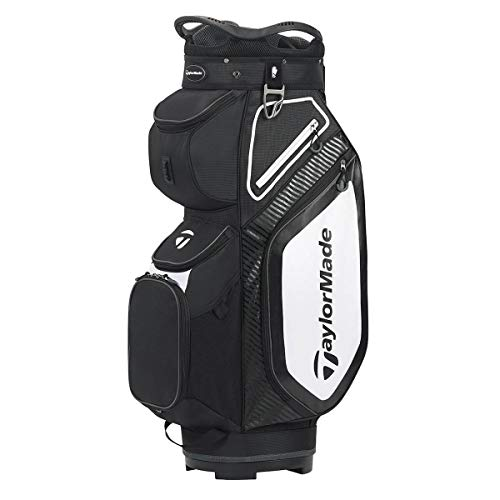 TaylorMade TM20 Cart8.0 Bag Black White Charcoal Cartbag, Schwarz, Einheitsgröße