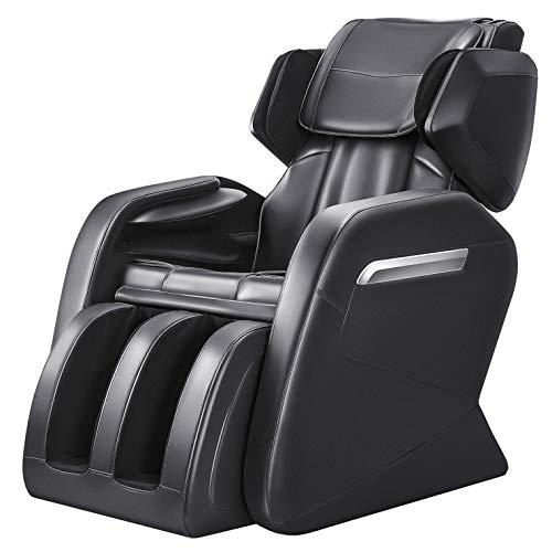 OOTORI Full Body Massage Chair, Zero Gravity Neck Back Legs and Foot Shiatsu Massager with Heat and Foot Rollers (Matte Black)