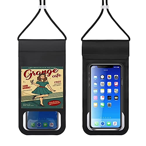 The Best Place to Stay Waterproof Mobile Phone Bag Universal Mobile Phone Waterproof case Underwater Drying Bag with Lanyard to take Pictures Compatible with iPhone, Samsung, etc. up to 6.5 inches
