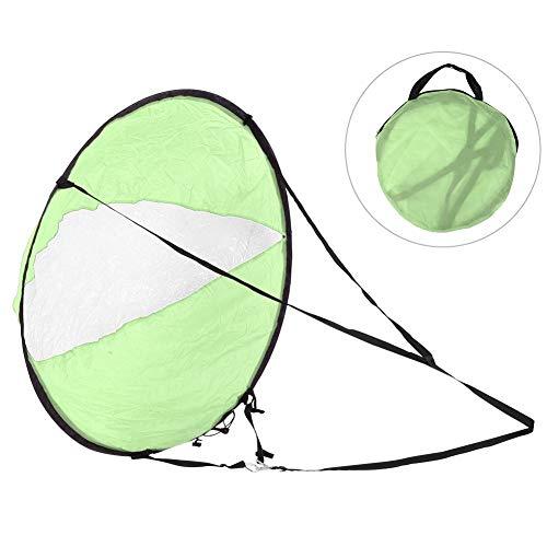 VGEBY Kajak Windsegel Polyester TAFT Langlebig klappbar Kajak Windsegel Transparentes Fenster Kanu Windsegel Boot Wassersport Zubehör(Grün)