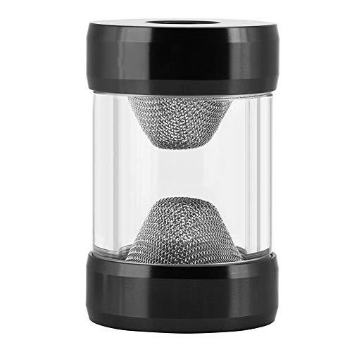 Tangxi G1/4-Zoll-Innengewinde-Wasserkühlungsfilter GLQ-JX1 Computer-Mikrowellenfilter Flüssigkeitskühlsystem Trichterförmiger Wasserkühlungsfilter für Computerkühlungsbehälter(Schwarz)